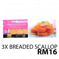 Kanika Imitation Breaded Scallop X3