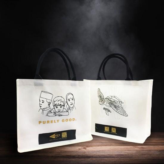 Designer Premium Jute Bag (Beige)