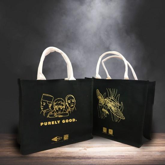Designer Premium Jute Bag (Black)