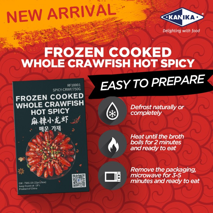 Frozen Spicy Crawfish 16-22pcs