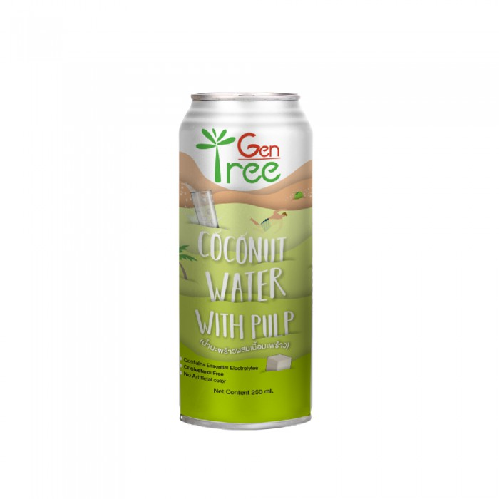 Gentree Coconut Water with Pulp 240ml