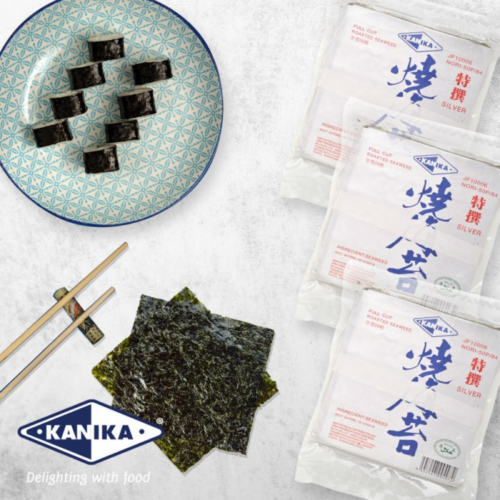 Kanika Sushi Nori Full Cut (50 pcs/packet)