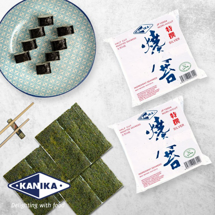 Kanika Sushi Nori Half Cut (50 pcs/packet)