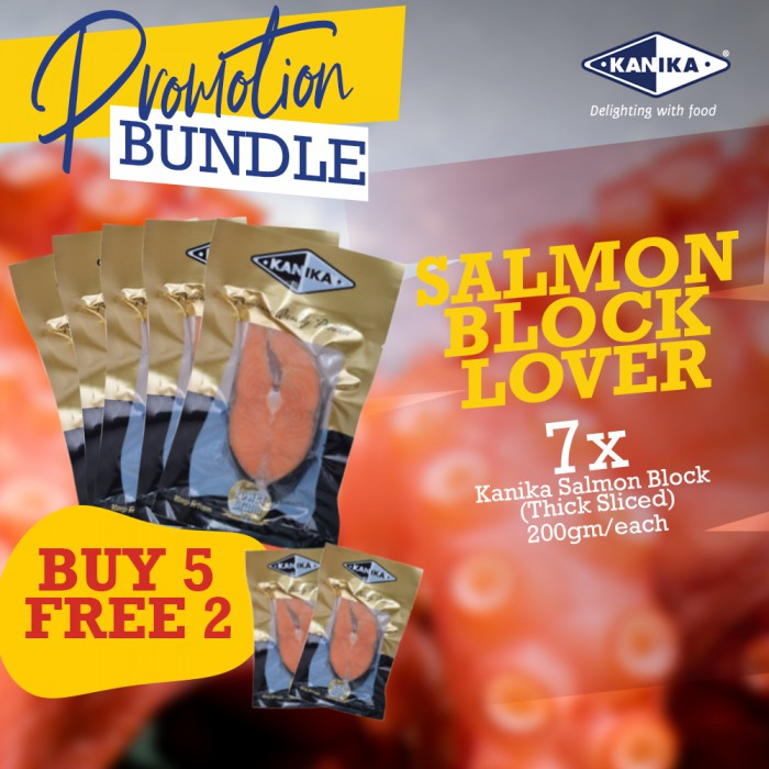 Salmon Block Lover - 5+FREE 2 Salmon Block (200gm)