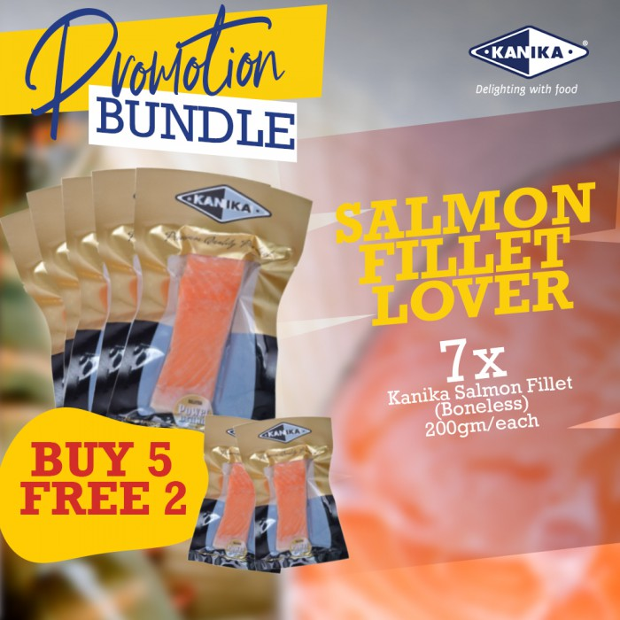 Salmon Fillet Lover - 5+ FREE 2 Salmon Fillet (200gm)