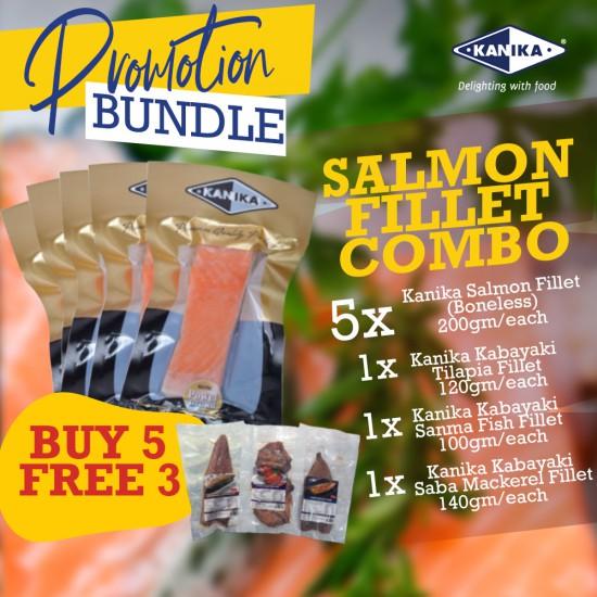 Salmon Fillet Combo - 5x Salmon Fillet (200gm) + FREE 1x Kabayaki Combo