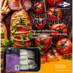 Squid (Cleaned) 200gm [3-4pcs/tray]