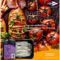 Squid (Cleaned) 200gm [6-8pcs/tray]
