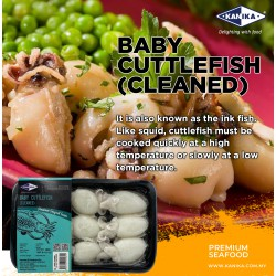 Baby Cuttlefish 20/40 (Cleaned) 250gm
