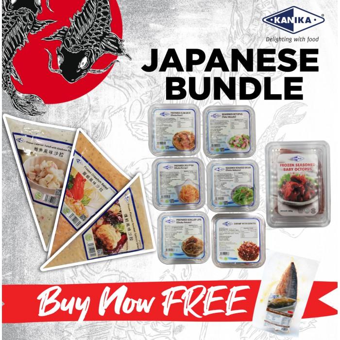 Japanese Bundle - Kanika Salad + Chuka (Free Kabayaki Saba) JF60051, JF60050, JF60049, JF80037, JF80032, JF60045, JF80033, JF80034, JF80038, JF80039 (FREE JF80101)