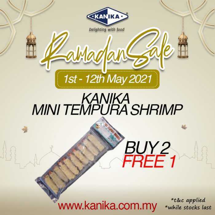 Kanika Mini Tempura Vannamei Shrimp (155gm) Buy2Free1