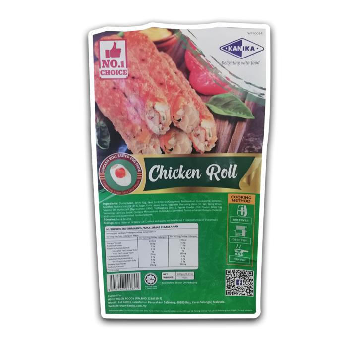 Kanika Chicken Roll With Salted Egg (240gm)