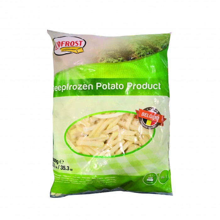 Ecofrost Belgium Fries Shoestring 1kg(+-)