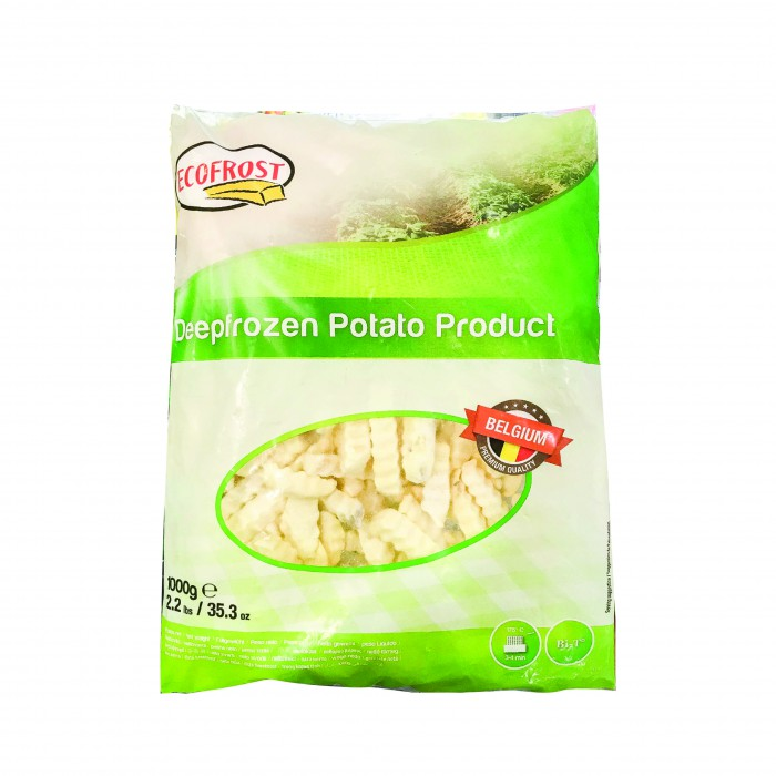 Ecofrost Belgium Fries Crinkle Cut 1kg(+-)